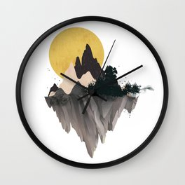 Moon Mountain Wall Clock