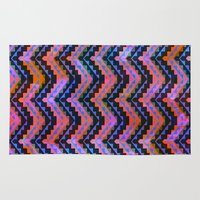 southwest Area & Throw Rugs featuring Southwest Chevron by Schatzi Brown