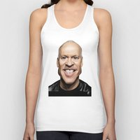 celebrity Tank Tops featuring Celebrity Sunday ~ Michael Keaton by rob art | illustration