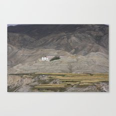 Home in Lo Manthang Canvas Print