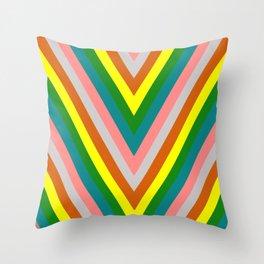 Rainbow (green tones) Throw Pillow