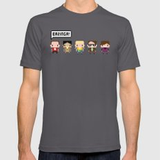 The Big Bang Theory Pixel Characters Asphalt Mens Fitted Tee X-LARGE