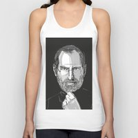 steve jobs Tank Tops featuring Steve Jobs by 1and9