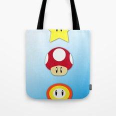 Super Mario Bros Star, Mushroom and Flower Tote Bag