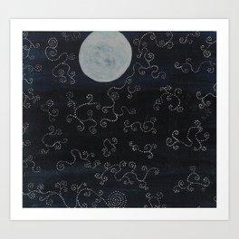 Mystical Moonrise Art Print