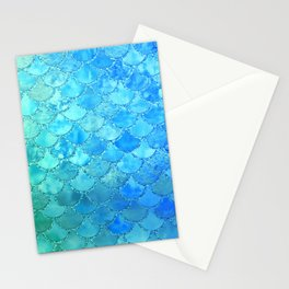 Summer Dream Colorful Trendy Mermaid Scales Stationery Cards