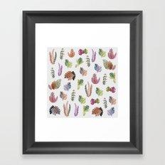 tropical leaves color Framed Art Print