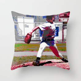 baseball throw Throw Pillow