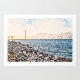 Golden Gate Bridge ArtWork Painting Art Print