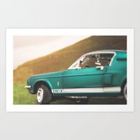 mustang Art Prints featuring Mustang by emran