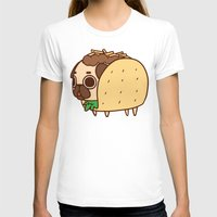 taco T-shirts featuring Puglie Taco by Puglie Pug