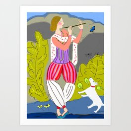 The Flute Player Art Print