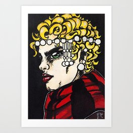 Red Pearls #2 Art Print