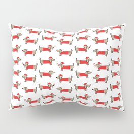 Christmas dachshund pattern Pillow Sham