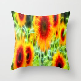 Sunflowers Of Dreams Throw Pillow