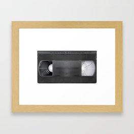 Vintage video cassete Framed Art Print