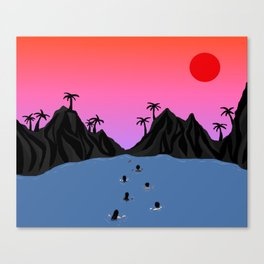 Swim Together Canvas Print