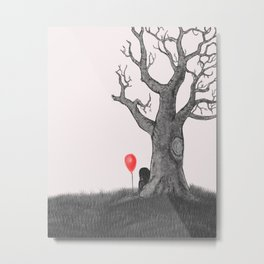 Girl with a Red Balloon Metal Print