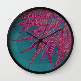 Agave psychedelic colors Wall Clock