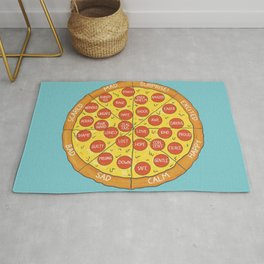 Pizza Feeling Wheel - An Emotion Wheel for Children and Adolescents Rug