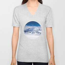 Life is either a daring adventure or nothing at all. ICELAND (Helen Keller Quote) Unisex V-Neck