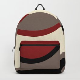 """Abstract Retro Waves"" Backpack"