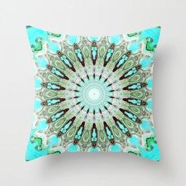 Tropical Floral Mandala Throw Pillow