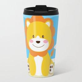 Lion in the savannah Travel Mug