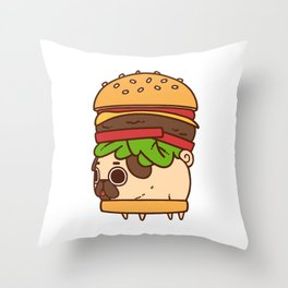 Puglie Burger Throw Pillow