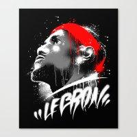 lebron Canvas Prints featuring Lebron J by squadcore