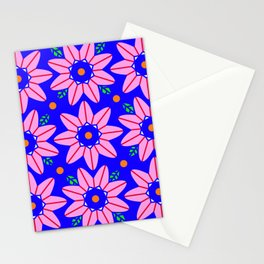 Flower Power 2 Klein Blue Stationery Cards