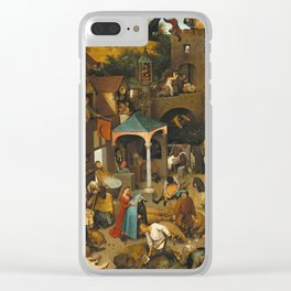 Pieter Bruegel The Elder - The Dutch Proverbs Clear iPhone Case