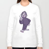 sassy Long Sleeve T-shirts featuring Sassy Squatch by Chris Piascik