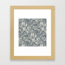 canadian animals indigo pearl Framed Art Print