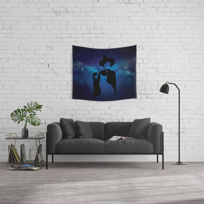 Minerva and Cat Wall Tapestry