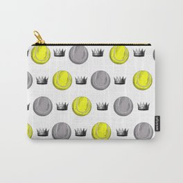 Crown tennis ball print Carry-All Pouch