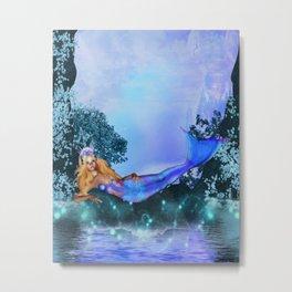Princess Mermaid Metal Print
