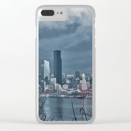 Seattle's shades of gray Clear iPhone Case