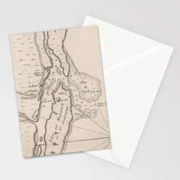 Vintage Map of St Augustine FL (1764) Stationery Cards