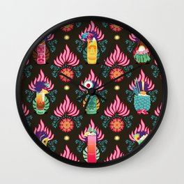 Tiki dinks Wall Clock