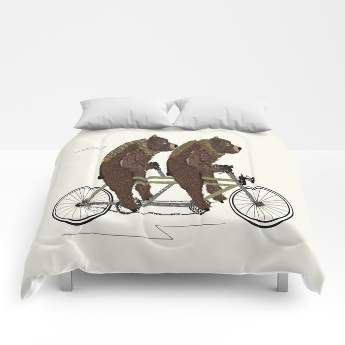 grizzly bears lets tandem Comforters