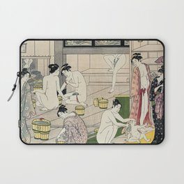 Interior of a Bathhouse by Torii Kiyonaga - Japanese Woodblock Laptop Sleeve