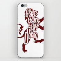 gryffindor iPhone & iPod Skins featuring Gryffindor Pride by Gabriela Michelle