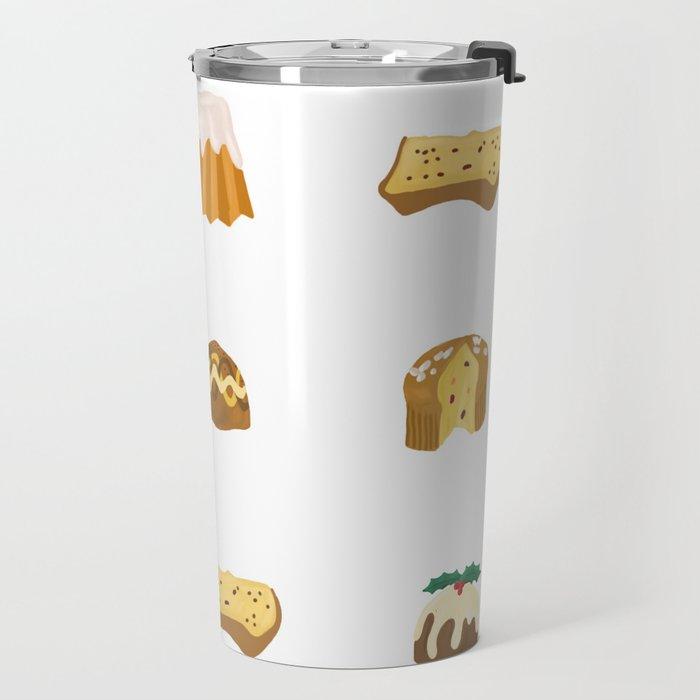 Christmas Cakes Travel Mug