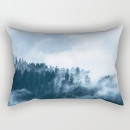 The Wilderness, Foggy Forest Rectangular Pillow