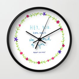 Proud of You Wall Clock