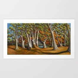 Ghost Gums of Gregory Gorge, original oil painting Art Print