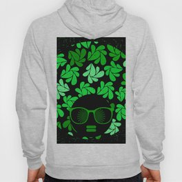 Afro Diva : Green & Black Hoody