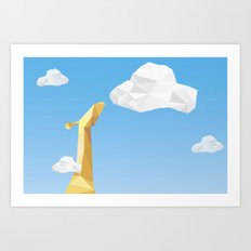 Into the cloud Art Print