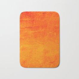 Orange Sunset Textured Acrylic Painting Bath Mat